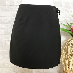 Trina Turk | Black Tie Wrap Mini Skirt Size 4